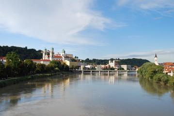 Passau blick von Innsteg - 2