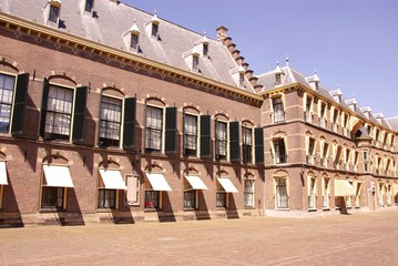 Part of the dutch parliament buildings in the Hague