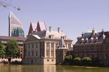 A part of the dutch parliament buildings in the Hague