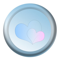 button with hearts for introductions service