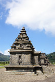 Temples in Arjuna complex, plateau Dieng, Java poster