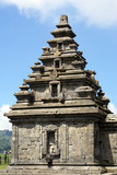 Top of temple Arjuna on plateau Dieng, Ja