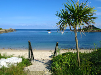 Old town beach in St. Mary's, Isles of Scilly..