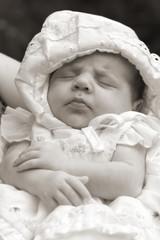 Little baby is sleeping