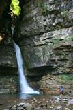 Waterfall near Forra del Vinadia, Friuli, Italy poster