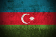 Weathered Flag Of Azerbaijan, fabric textured..