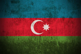 Weathered Flag Of Azerbaijan, fabric textured.. poster