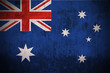 Weathered Flag Of Australia, fabric textured..