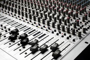 Audio recording equipment or soundboard background