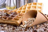 Waffles from integral wholegrain poster