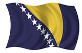 Bosnien Herzegovina Fahne poster