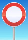 Circulation interdite à tout véhicule poster