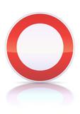 Circulation interdite à tout véhicule (reflet métal) poster
