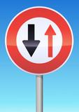 Cédez le passage à la circulation en face poster