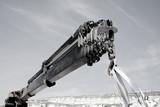 Pneumatic Crane Delivering Goods poster