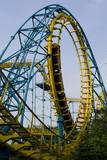 Roller coaster at an amusement park poster