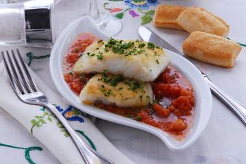 Baccala alla fiorentina - secondo di pesce Toscano