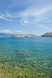 Adriatic sea beach on island Krk poster