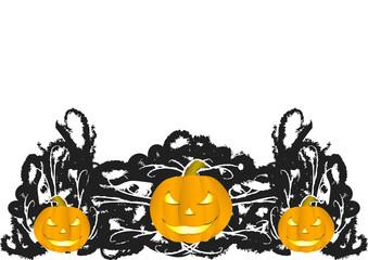 sfondo zucche halloween