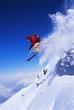 Leinwanddruck Bild - Skier jumping
