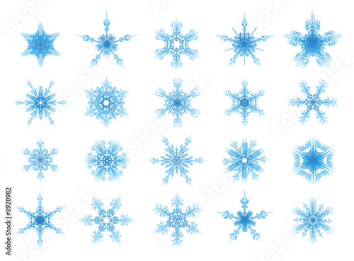 set of vector ornament stars