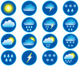Fototapety Symbols for the indication of weather. Vector illustration.