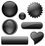 Miscellaneous black buttons poster