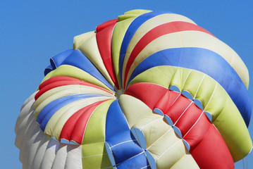 Sports activity double parasailing two people