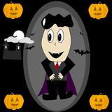 Cartoon vampire poster