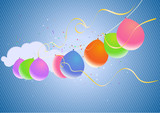 Colorful Party Balloons and Confetti poster