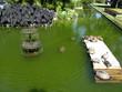 Leinwanddruck Bild - Bassin avec fontaine et tortues. Rio de Janeiro, Brésil.