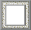 Sliver Floral Frame with isolated clipping area