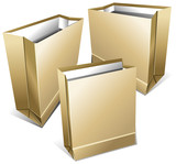 Foodstuff paper packages poster
