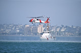 Coast Gaurd Jayhwak Helicopter and Rescue Boat - 8940364