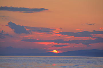 Sunset on the island of Brac, Croatia