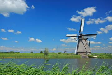 Windmill in Kinderdijk, Holland