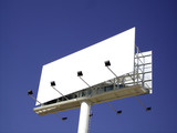 Advertisement panel isolated over the sky poster