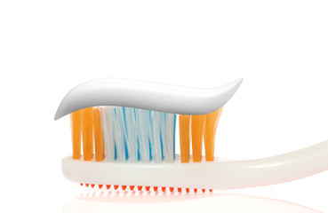 Tooth-brush. An accessory of a toilet to cleaning a teeth