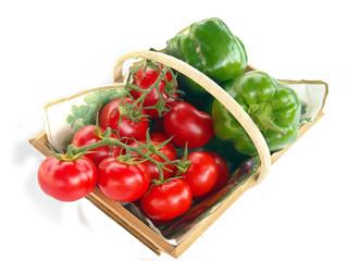 panier fruits légumes  tomates poivrons 1