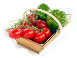 panier tomates poivron