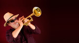 Trumpet Player  Trumpeting an Announcement poster