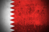 Weathered Flag Of Kingdom of Bahrain, fabric textured.. poster
