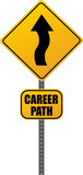 Career Path Road Sign poster