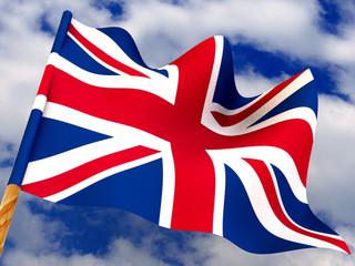Flag. United Kingdom. 3d