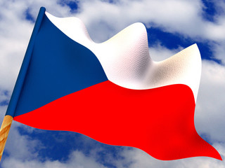Flag. Czech. 3d