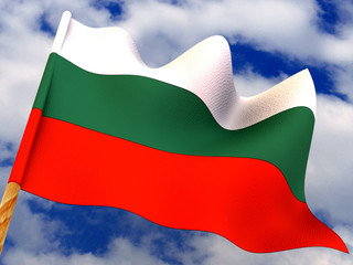 Flag. Bulgaria. 3d