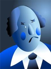 blue with sorrow