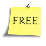 yellow free memo on a white background poster
