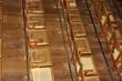 Intérieur de théatre ancien, sièges en bois, Brésil.