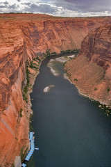 An abrupt bend of the river Colorado in Utah
